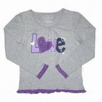 Best Girl's long-sleeved T-shirts wholesale
