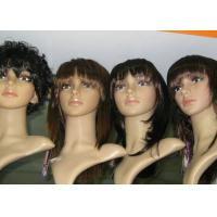 Best Customized Short Curly Synthetic Human Hair Full Lace Wigs Brown Tangle Free wholesale