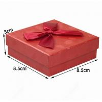 Best Red Cardboard Ring Jewelry Gift Boxes , Presentation Boxes For Jewellery wholesale