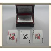 Best Durable plastic LV Brand Custom Playing Cards with standard 52 cards wholesale