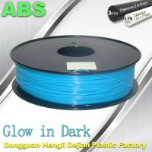 Best ABS Glow in The Dark 3d Printer Filament 1.75 / 3mm  glow in dark Blue ABS filament wholesale