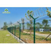 Best Pre Galvanized Welded Wire FenceWeather Proof For Shipping Port Security wholesale