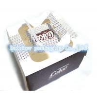 Best Foldable Paper Box Packaging Transparent Window Handle For Cake wholesale