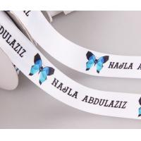 custom luxury satin ribbon with logo printing in roll for sale manufacturer