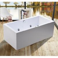 Cheap 1600mm Indoor Contemporary White Soaking Freestanding Bath Tub / Indoor Jacuzzi for sale