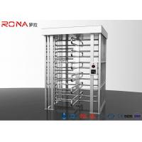 Best Stainless Steel Full Height Turnstile Pedestrian Secure Channel 0.2s Opening / Closing Time wholesale