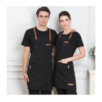Best Black Blue Green China Manufacture Durable Cotton Kitchen Apron for Cooking Chef 7-Eleven Aprons with Customized Logo wholesale