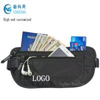Best Mens RFID Hidden Ripstop Nylon Money Belt Travel Black Color wholesale