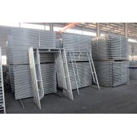 Quality European Style Anti Rust Ladder Scaffolding Systems H Frame Steel Q235B Material wholesale