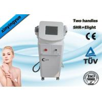 China Professional 2 handpiece pain free hair removal  / freckle removal SHR ipl machine on sale