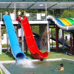 Best Water Park Swimming Pool Slides , Fiberglass Barrel And Sled Slides wholesale