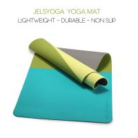 China SGS Certified TPE Sport Yoga Mat With Carrying Strap Three Color Color Matching Pad on sale