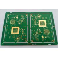 Buy cheap 10 layers HDI FR-4 PCB ENIG green soldmask white silkscreen min drill hole 0.1mm from wholesalers