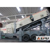 China 160kw Stone Crusher Plant / Mobile Impact Crusher And Vibrating Screen on sale