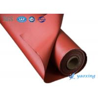 Best Industrial Silicone Rubber Coated Fiberglass Fabric / Silicone Impregnated Fabric wholesale
