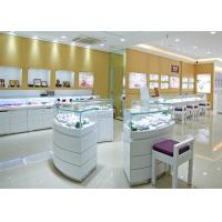 Best Retail Shop Lighted Commercial Jewelry Wall Display Case High Glossy White Color wholesale