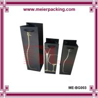 Best China Supplier customized black art paper wine bottle carrying gift bag Wholesale wholesale