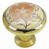 Best Zinc Alloy Insert Ceramic Knob with 33mm Diameter wholesale