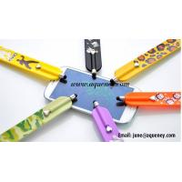 Best 2015 Custom logo printing silicone slap band with touch pen wholesale