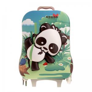 Best Green Durable Kids Hard Case Luggage Rolling School Backpacks wholesale