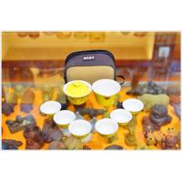 Best Purple Clay Yixing Teapot Set With 6 Cups Personalized Home Use Yellow Color wholesale
