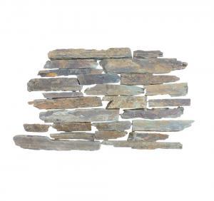 China Rusty Loose Stone Irregular Slate Wall Cladding Tiles Random Culture Stone For Wall Decoration on sale