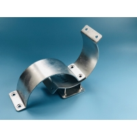 China Pipe clamp with bending-type ear plates for sliding pipe suport on sale