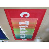 Best Digital Four Color Print Outdoor Mesh Banners Hemmed Edge With Metal Eyelets wholesale
