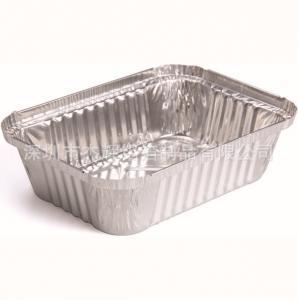 Buy cheap Rectangle Baking Aluminium Foil Pie Dishes , Disposable Aluminum Baking Pans from wholesalers
