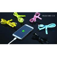 Best TPE Powered Short HTC Micro USB Cable Green For Smartphone / HTC Desire wholesale