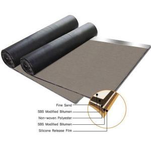 Cheap SBS polyester felt fabric modified bitumen 3mm 4mm waterproof membrane for sale