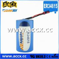 Best ER34615 with connector 3.6V 19000mAh  d cell lithium battery wholesale