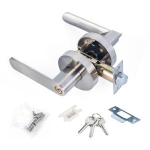 Best Satin Nickel Lever Set Lock Living Room Bedroom Bathroom Tubular Door Handle Lock wholesale