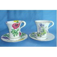 China Modern ceramic tea/coffee cup saucer set with decal on sale