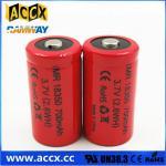 Best ICR18350 700mAh 3.7V li-ion battery 18350 for led, cordless phone, home application wholesale