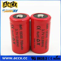 Buy cheap ICR18350 700mAh 3.7V li-ion battery 18350 for led, cordless phone, home application from wholesalers