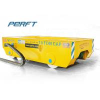 China 10T Cable Reel Powered Industry Standard Flat Transfer Trolley On Rail on sale