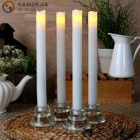 Best Remote Control Taper Candles , Flameless Taper Candles With Timer wholesale
