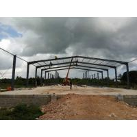 China Gable Frame Metal Structure Building , Prefabricated Steel Structure Construction on sale