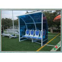 Best Stadium Mobile Football Field Equipment Soccer Player Team Bench Seats With Shade wholesale