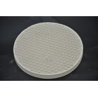Best Round Cordierite Ceramic Heat Resistant Plate For BBQ Stove Grill High Strength wholesale