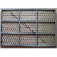 China 695MM × 1050MM Oil Vibrating Screen With 2 -3 Layers Stainless Steel Woven Wire Mesh on sale