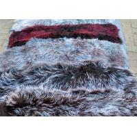Best Real Mongolian fur fabric 15cm long hair Mongolian lambskin curly sheep skin wholesale
