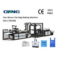 Best Multifunctional D - Cut Non Woven Fabric Bag Making Machine With 5 Sets Ultrasonic wholesale
