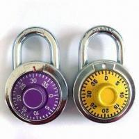 Best Combination Locks with Chrome-plated Body, Used for Drawer, Furniture/Door Cabinet, Measures 50mm wholesale