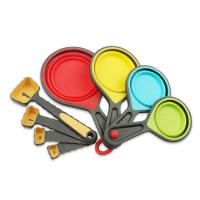 Best Colorful Silicone Collapsible Folding Measuring Cups and Spoons 4 Piece Set wholesale