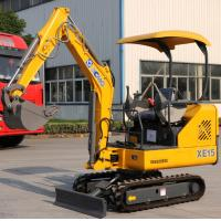 China Strong Power Crawler Hydraulic Excavator 1.5 Tons Digger AC Driving Cab on sale