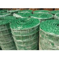 Best Green PVC Coated Welded Wire Mesh Panels / Plain Weave Mesh For Railings wholesale