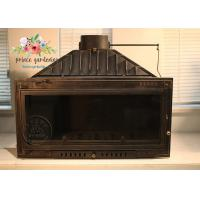 Best Indoor Freestanding Cast Iron Fireplace Hand Carved And Polished wholesale