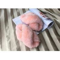 Best Dyed Pink Sheep Wool Slippers Real Australia Merino Fur With15mm Slender Fleece wholesale
